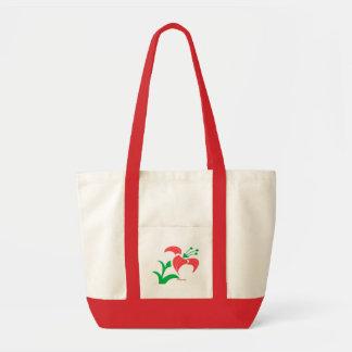 Personalize Elegant Flower Tote Bag
