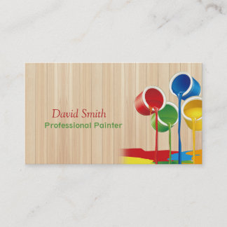 Personalize Elegant Modern Professional Painter Business Card
