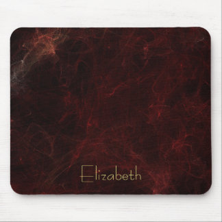 Personalize Elegant Smoke and Fire Abstract Mouse Pad