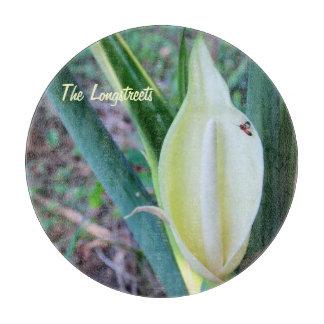 Personalize Elephant Ear Bloom Photo Cutting Board