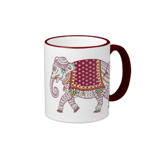 PERSONALIZE ELEPHANT MOTHER'S DAY RINGER COFFEE MUG