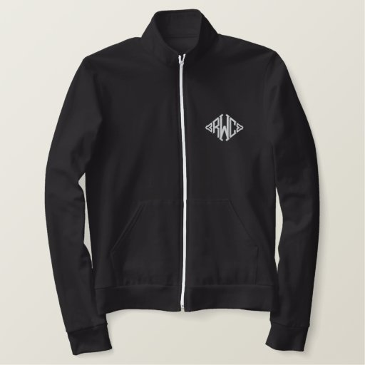Personalize Embroidered Monogram Track Jacket