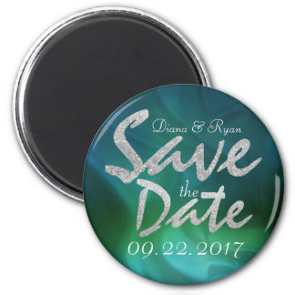 Personalize Emerald Sea Save the Date Magnet