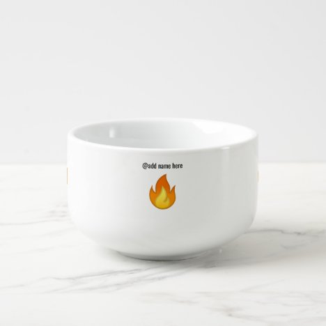 Personalize Emoji Soup Bowl/Latte Mug   You're Hot
