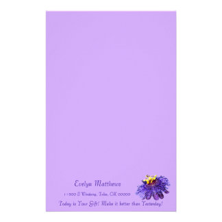 Personalize Exotic Purple Passion Flower Stationery
