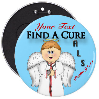 Personalize FAC Angel#2  Button Pin