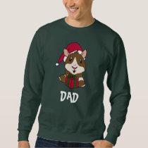 Personalize Family Christmas Guinea Pig Dad Sweatshirt