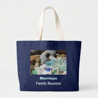 Personalize Family Reunion gifts Tote Bag Seaglass