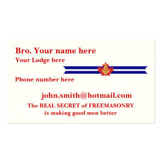 PERSONALIZE FATHER'S DAY GIFTS MASONIC & SHRINERS Double-Sided STANDARD BUSINESS CARDS (Pack OF 100)