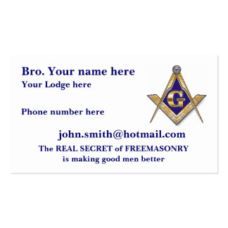 PERSONALIZE FATHER'S DAY MASONIC Double-Sided STANDARD BUSINESS CARDS (Pack OF 100)