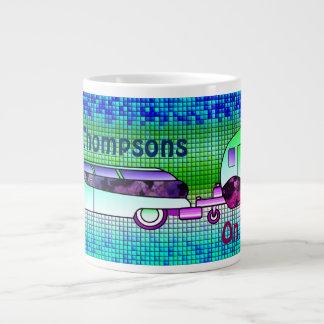 Personalize  Faux Ceramic Tile Caravan Cup