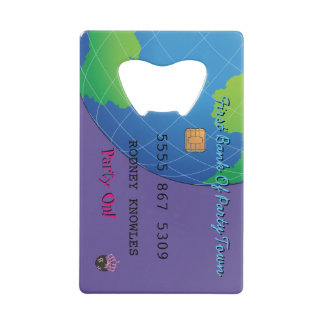 Personalize First Bank Debit Party Hearty Credit Card Bottle Opener