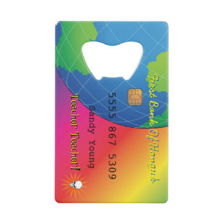 Personalize First Bank Debit Party Skull Credit Card Bottle Opener