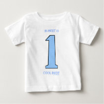 Personalize First Birthday Baby Son Funny Baby T-Shirt