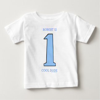 Personalize First Birthday Baby Son Funny Tee Shirt
