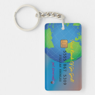 Personalize First Divorce Credit Card Keychain