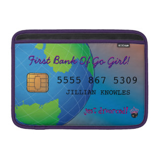 Personalize First Divorce Credit Card Sleeve For MacBook Air
