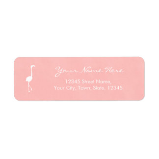 Personalize Flamingo Watercolor Style Label