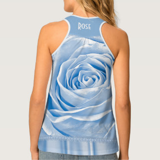 Personalize:  Floral Photography, Light Blue Rose Tank Top