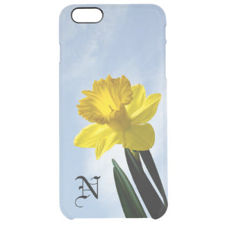 Personalize:  Floral Photography Yellow Daffodil Clear iPhone 6 Plus Case