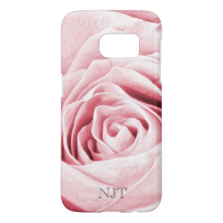 Personalize: Flower pic - Girly Pink Rose Abstract Samsung Galaxy S7 Case