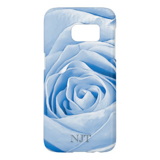 Personalize: Flower pic - Light Blue Rose Abstract Samsung Galaxy S7 Case
