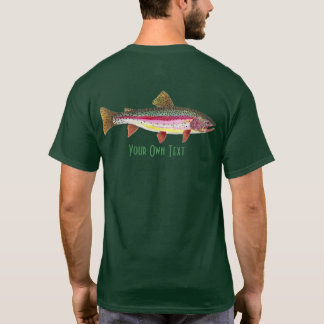 Personalize Fly Fishing for Rainbow Trout Angler T-Shirt