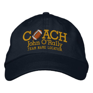 Personalize Football Coach Cap Your Name Your Game