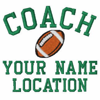 Personalize Football Coach Your Name Your Game! Embroidered Polo Shirt