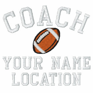 Personalize Football Coach Your Name Your Game! Polo Shirt