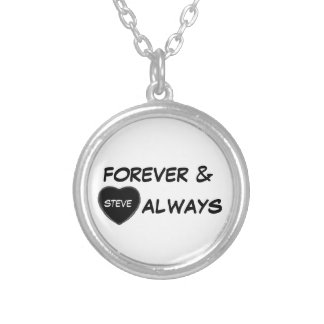 personalize forever & always heart love necklace