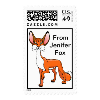 Personalize Fox   POSTAGE STAMP