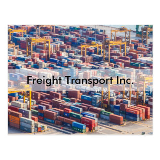 Personalize Freight Transport Invitation Postcard