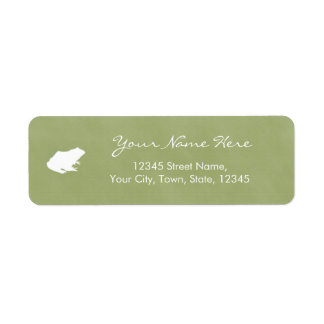 Personalize Frog Watercolor Style Label