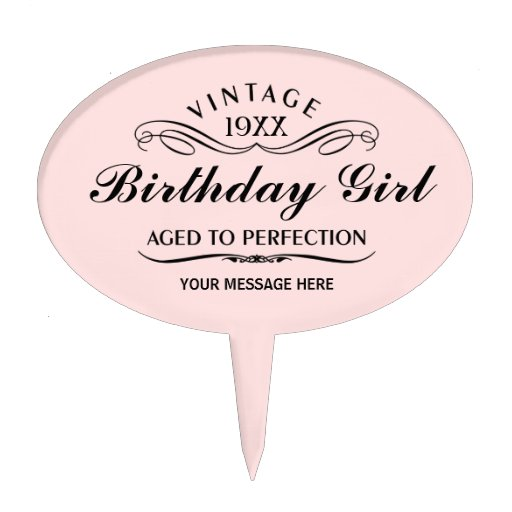 Personalize Funny Birthday Cake Topper