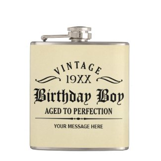 Personalize Funny Birthday Hip Flasks