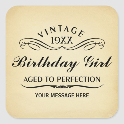 Personalize Funny Birthday Sticker