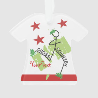 PERSONALIZE Funny Cross Country Grass Runner Stars Ornament