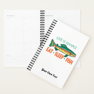 Personalize Funny Fishing Planner