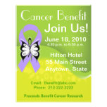 """Personalize General Cancer Fundraising Benefit 8.5"""" X 11"""" Flyer"""