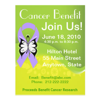 Personalize General Cancer Fundraising Benefit Flyer