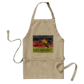 Personalize - German Distressed Flag - Germany Adult Apron