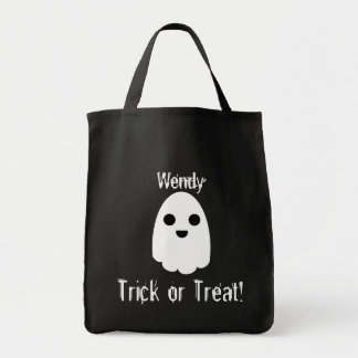 Personalize Ghost Trick or Treat Bag