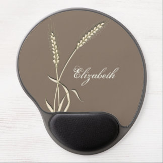 Personalize girls name wheat grass gel mouse pad