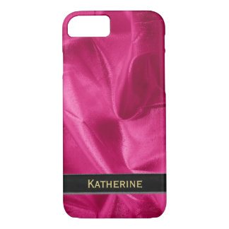 Personalize: Girly Faux Fuchsia Lame' Metallic iPhone 8/7 Case