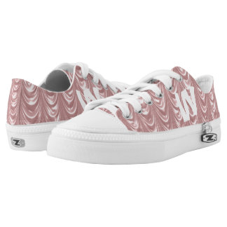 Personalize: Girly Pink Ruched Satin Scalloped Printed Shoes
