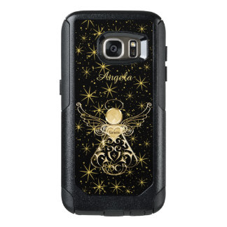 Personalize: Gold/Black Christmas Angel of Grace OtterBox Samsung Galaxy S7 Case