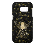 Personalize: Gold/Black Christmas Angel of Grace Samsung Galaxy S7 Case