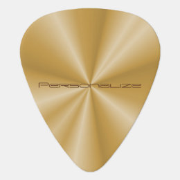 Personalize Gold Metallic Print Guitar Pick