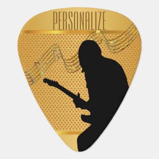 Personalize Golden Guitarist Pick